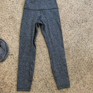 Lululemons leggings grey size small worn once